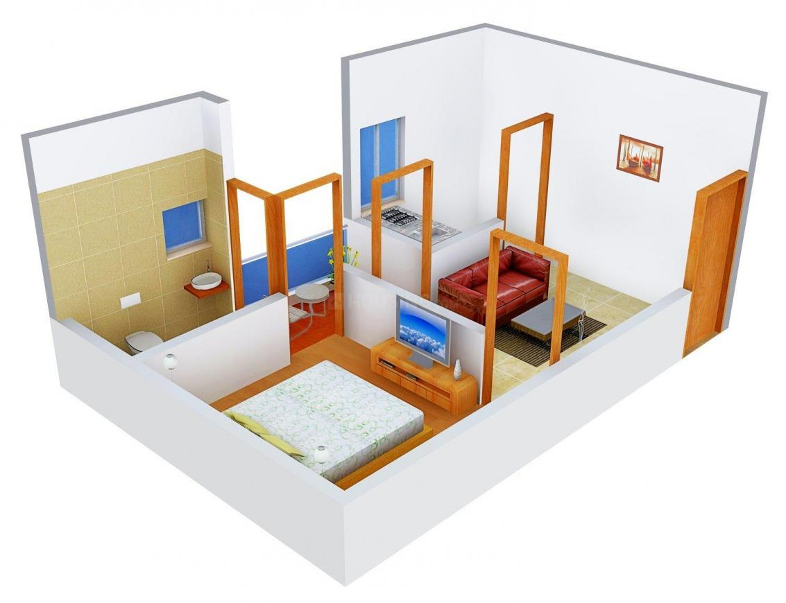 A P Complex  Floor Plan: 1 BHK Unit with Built up area of 306 sq.ft 1