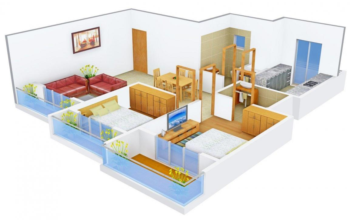 Floor Plan Image of 910 - 1137 Sq.ft 2 BHK Apartment for buy in Shree Balaji Om Rudra