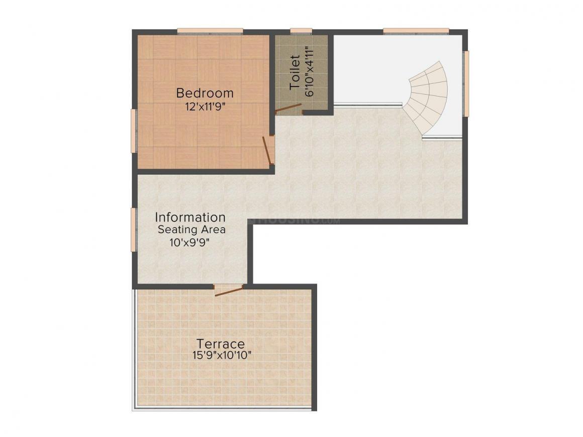 Floor Plan Image of 1805 - 1870 Sq.ft 3 BHK Apartment for buy in Pushkar Maple