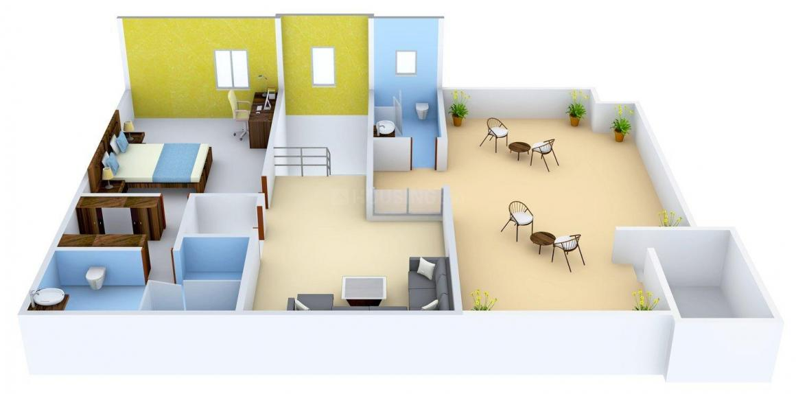 Gauthami Vivana Floor Plan: 4 BHK Unit with Built up area of 4896 sq.ft 5