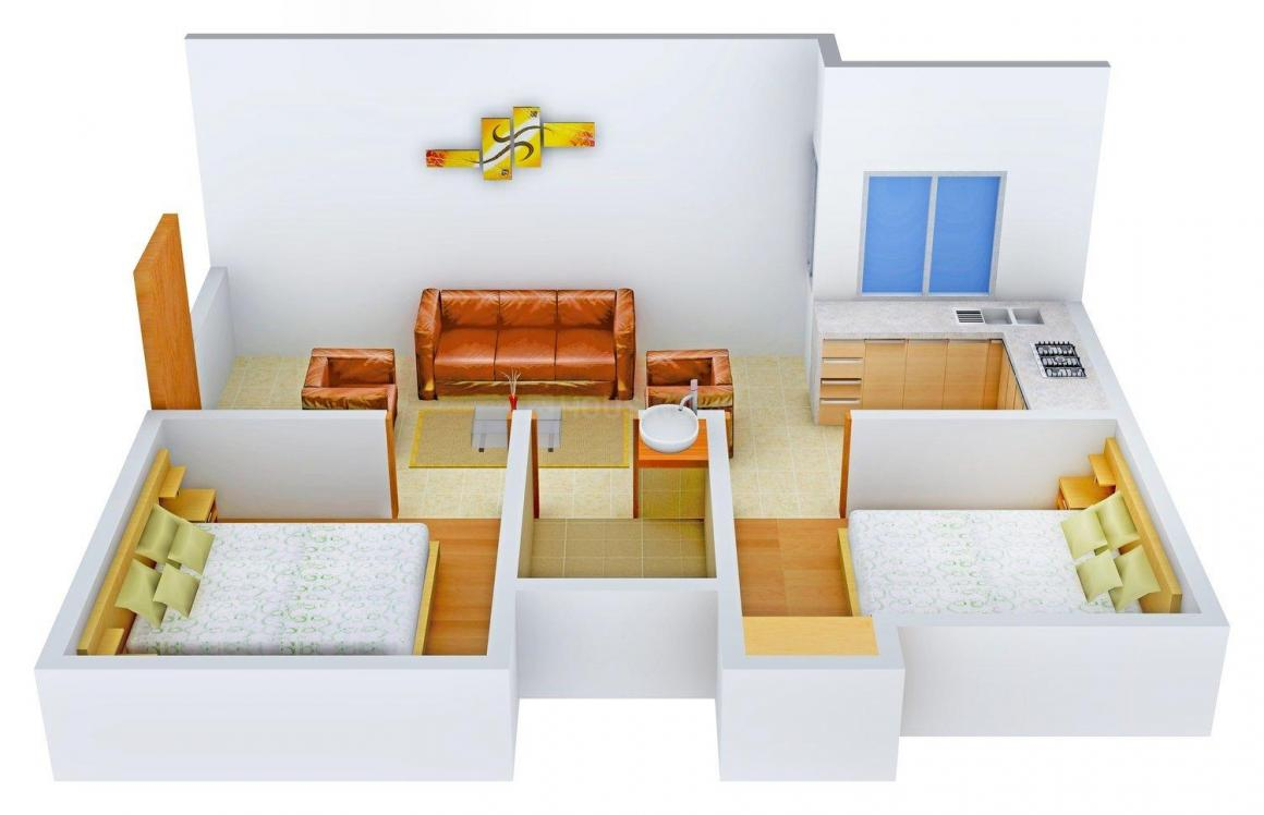 Floor Plan Image of 650.0 - 901.0 Sq.ft 2 BHK Independent Floor for buy in Kanha Apartment - 2