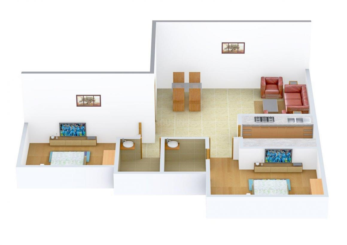 Floor Plan Image of 750 - 930 Sq.ft 2 BHK Apartment for buy in Bholenath Sai Nagar Apartments