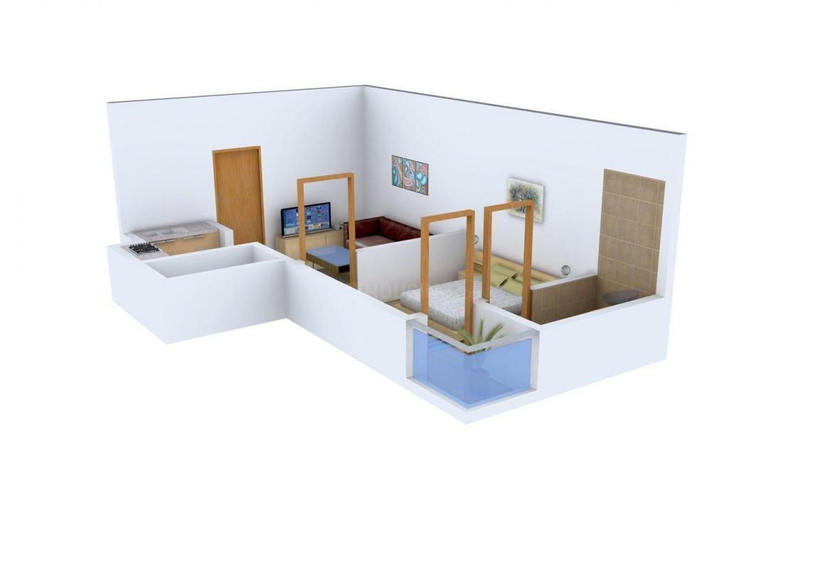 Areez Shisl Tower Floor Plan: 1 BHK Unit with Built up area of 600 sq.ft 1