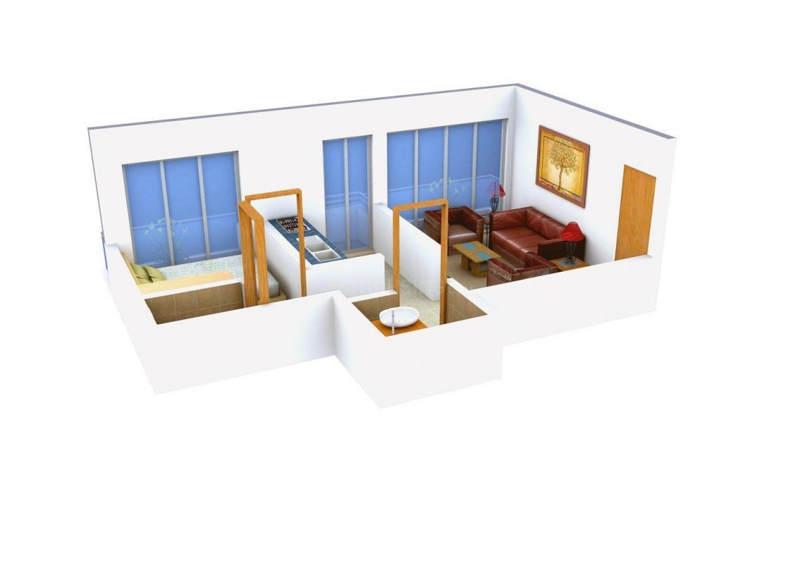 Floor Plan Image of 0 - 650 Sq.ft 1 BHK Apartment for buy in Sai Supreme Villa