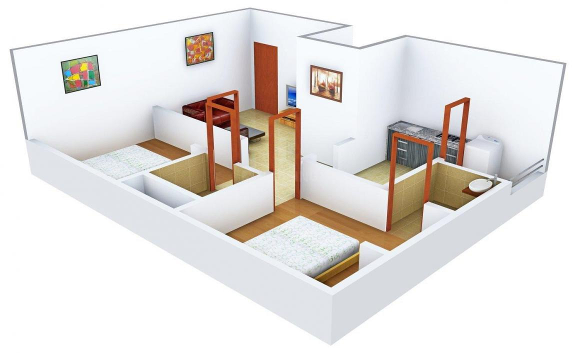 Floor Plan Image of 875.0 - 975.0 Sq.ft 2 BHK Apartment for buy in Lakshmi Ganapathi Plaza