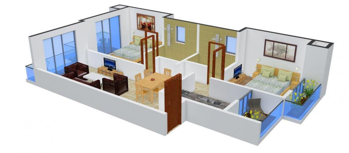 Floor Plan Image of 1150 - 1170 Sq.ft 2 BHK Apartment for buy in Keystone Vista