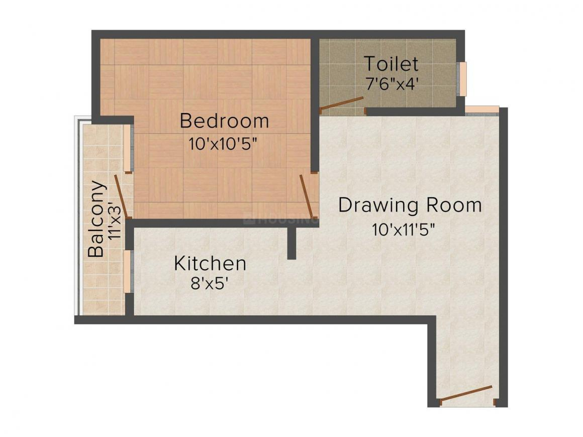 Shri Balaji Homes Floor Plan: 1 BHK Unit with Built up area of 460 sq.ft 1