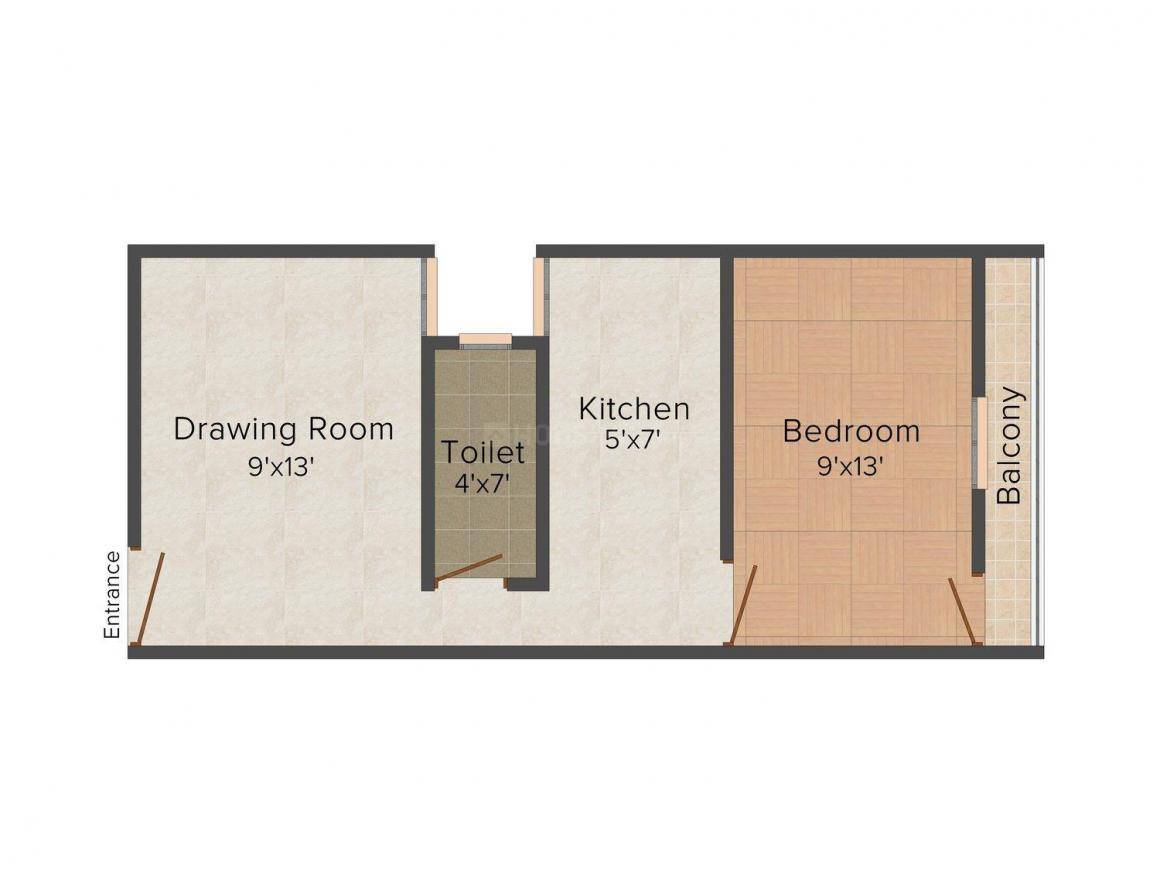 Floor Plan Image of 0 - 450 Sq.ft 1 BHK Independent Floor for buy in Sunil Buildcon Site-3