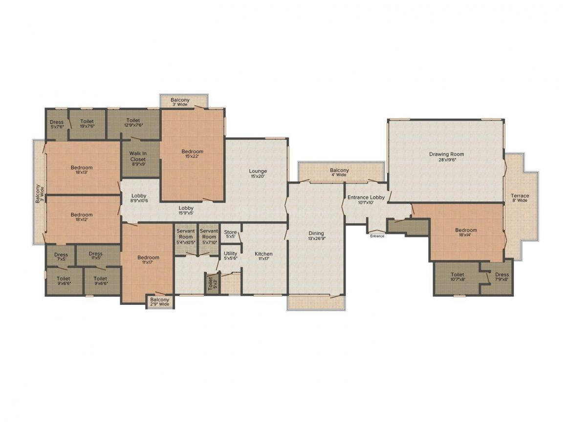 Floor Plan Image of 0 - 10800.0 Sq.ft 5 BHK Independent Floor for buy in United Homes 2