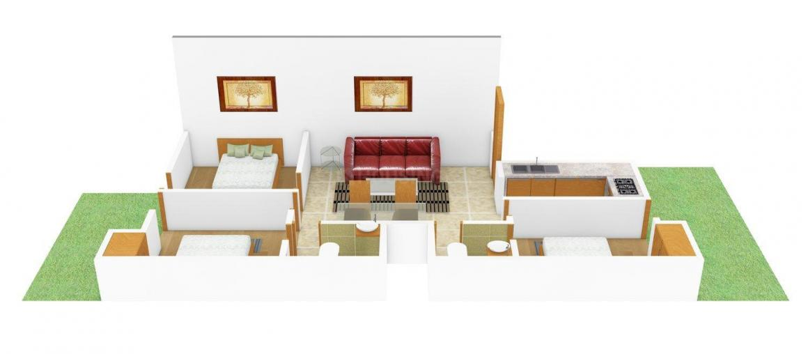 Floor Plan Image of 0 - 1200.0 Sq.ft 3 BHK Independent Floor for buy in V. P. Homes 39