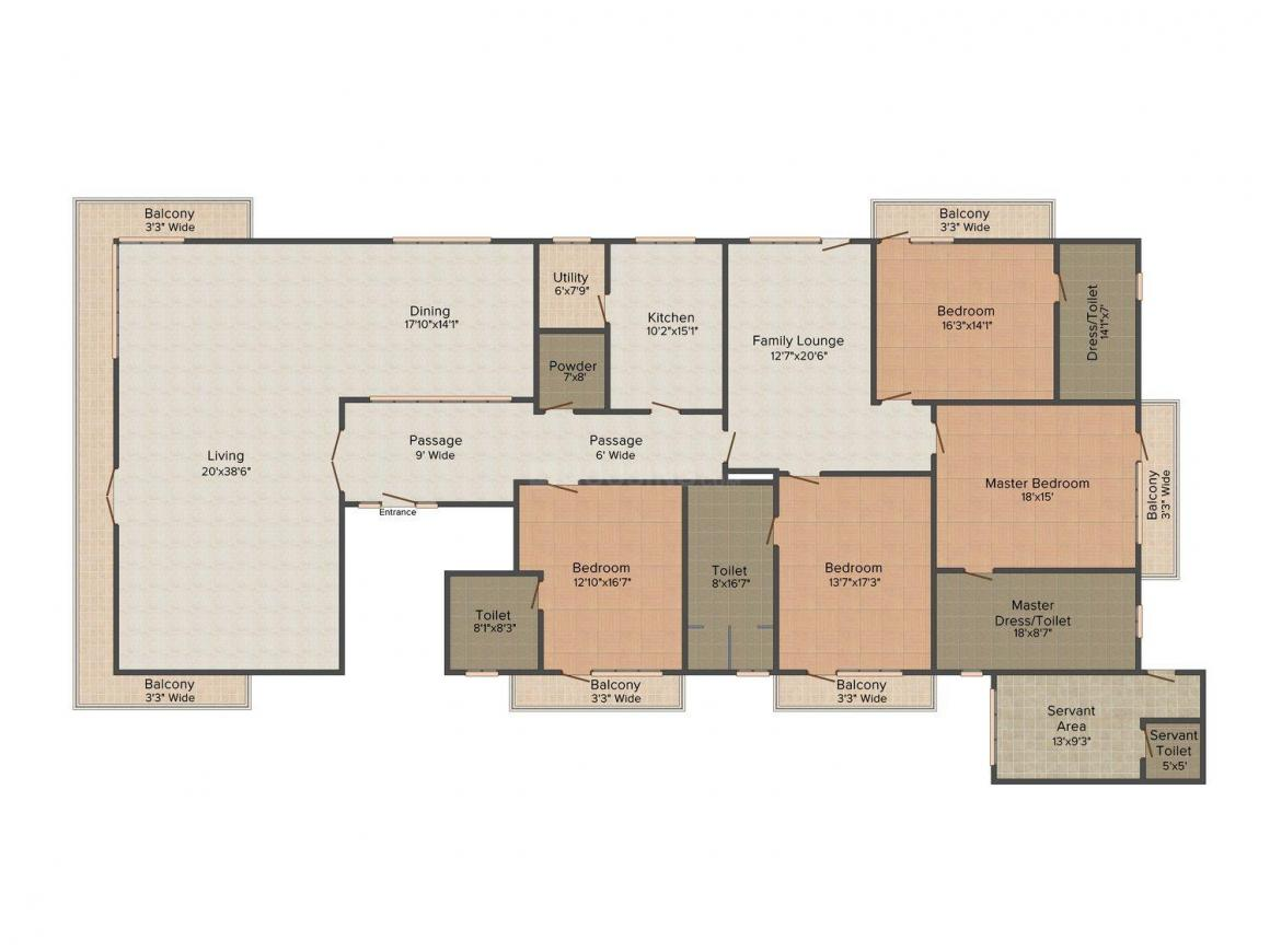 Floor Plan Image of 0 - 7200.0 Sq.ft 4 BHK Independent Floor for buy in United Homes 3
