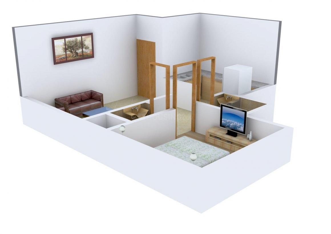 Floor Plan Image of 0 - 810 Sq.ft 1 BHK Apartment for buy in Kricon Blue Tulip
