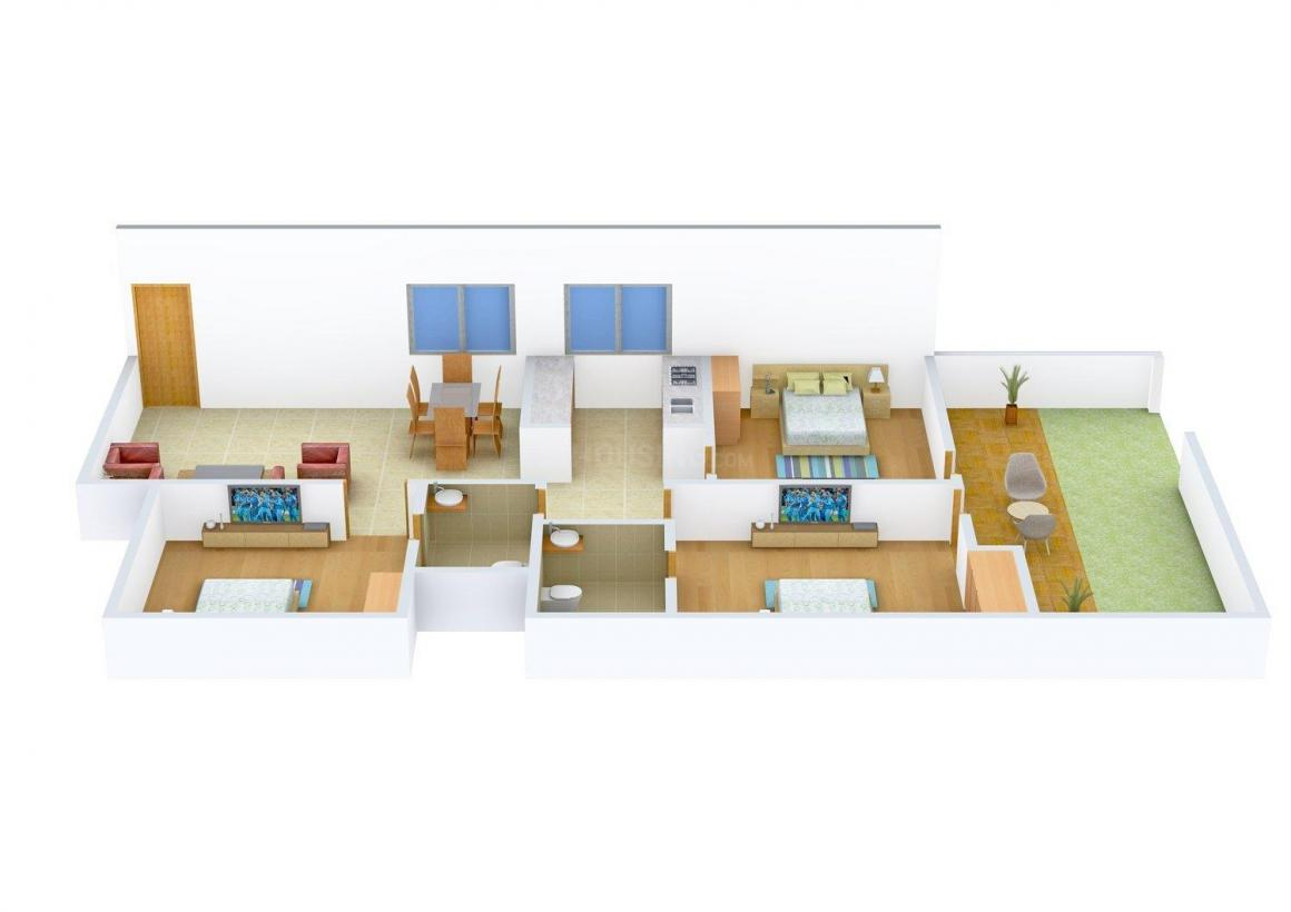 Floor Plan Image of 0 - 1400.0 Sq.ft 3 BHK Independent Floor for buy in BS Floors C 3392