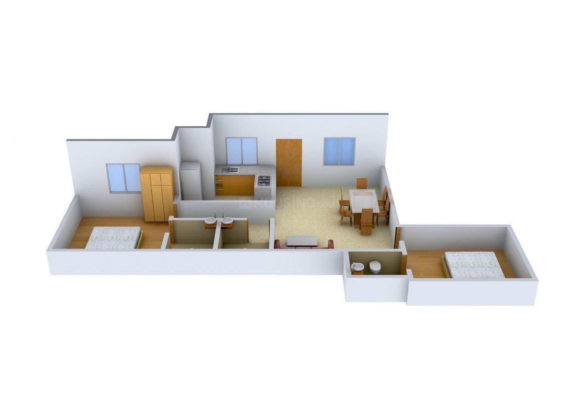 Floor Plan Image of 0 - 997 Sq.ft 2 BHK Apartment for buy in Tirupatiyar