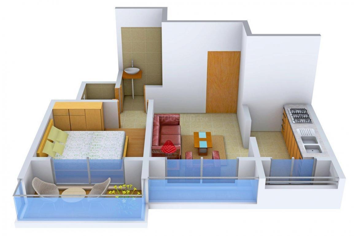 Floor Plan Image of 0 - 660 Sq.ft 1 BHK Apartment for buy in Hari Om Ganga