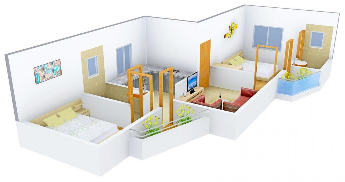 Floor Plan Image of 0 - 1300 Sq.ft 2 BHK Apartment for buy in Sweet Homes Sakshi Apartment