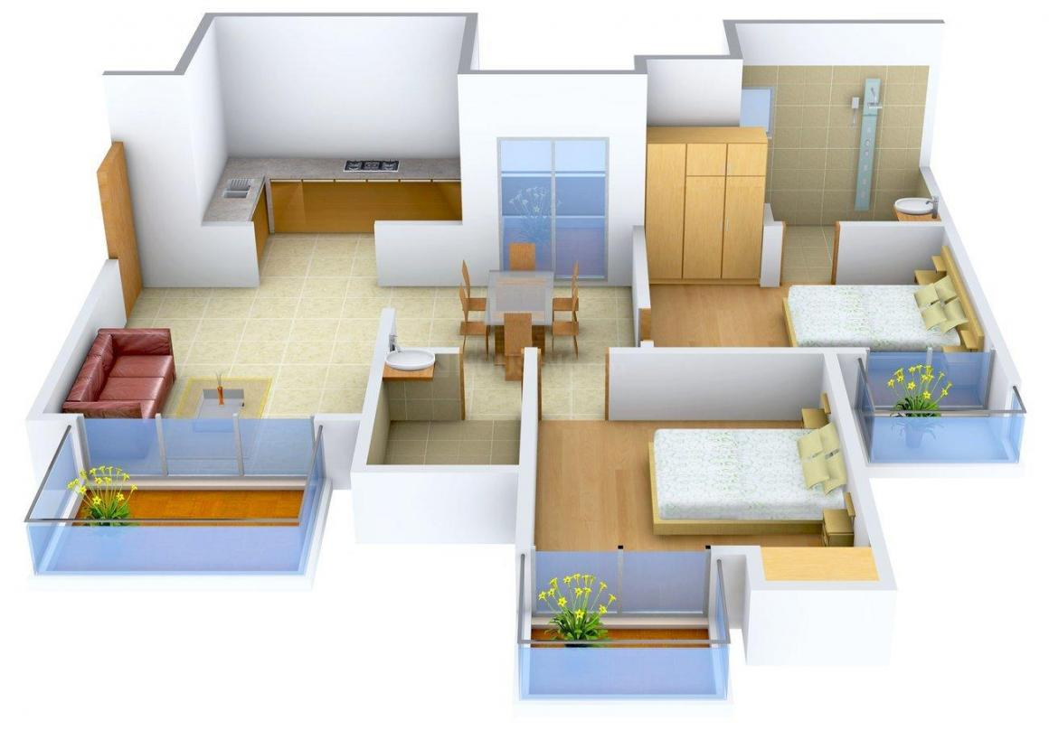 Floor Plan Image of 1203 - 1787 Sq.ft 2 BHK Apartment for buy in  Elegant Heights