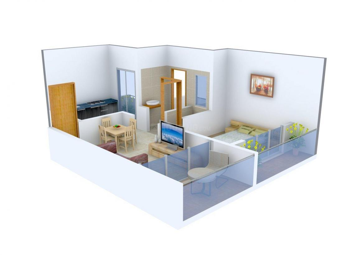 Floor Plan Image of 0 - 470.0 Sq.ft 1 BHK Apartment for buy in SM Majestic