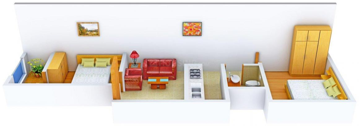Home-13 Floor Plan: 2 BHK Unit with Built up area of 540 sq.ft 1