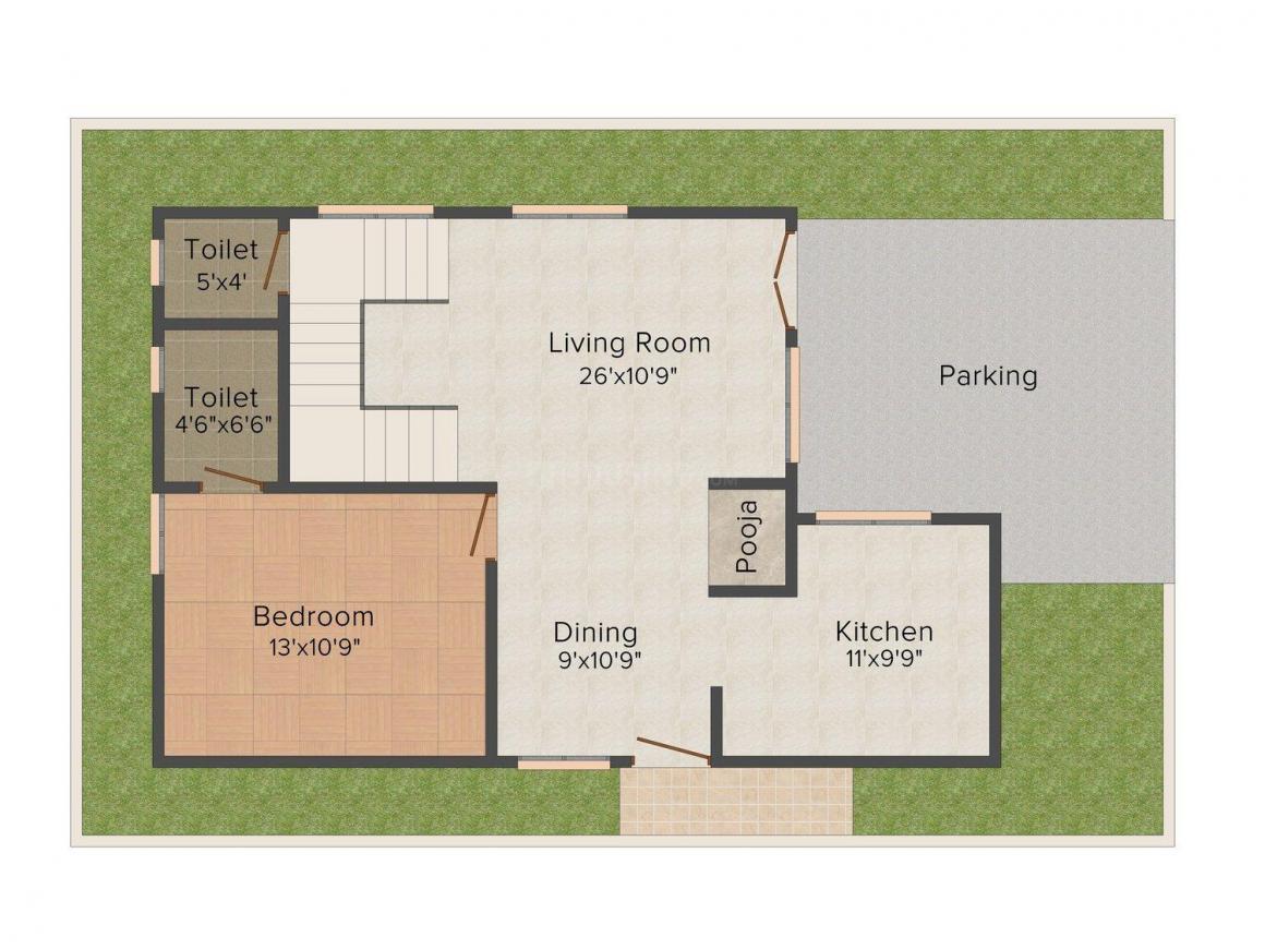 Floor Plan Image of 1620.0 - 2550.0 Sq.ft 3 BHK Villa for buy in SRJ Lakshmi Elite Villas