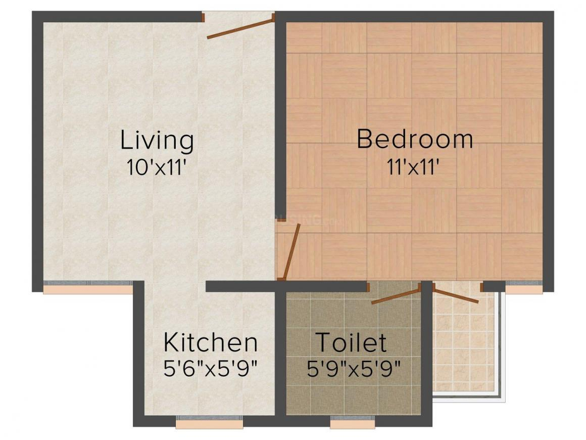 Sai Homz Floor Plan: 1 BHK Unit with Built up area of 450 sq.ft 1