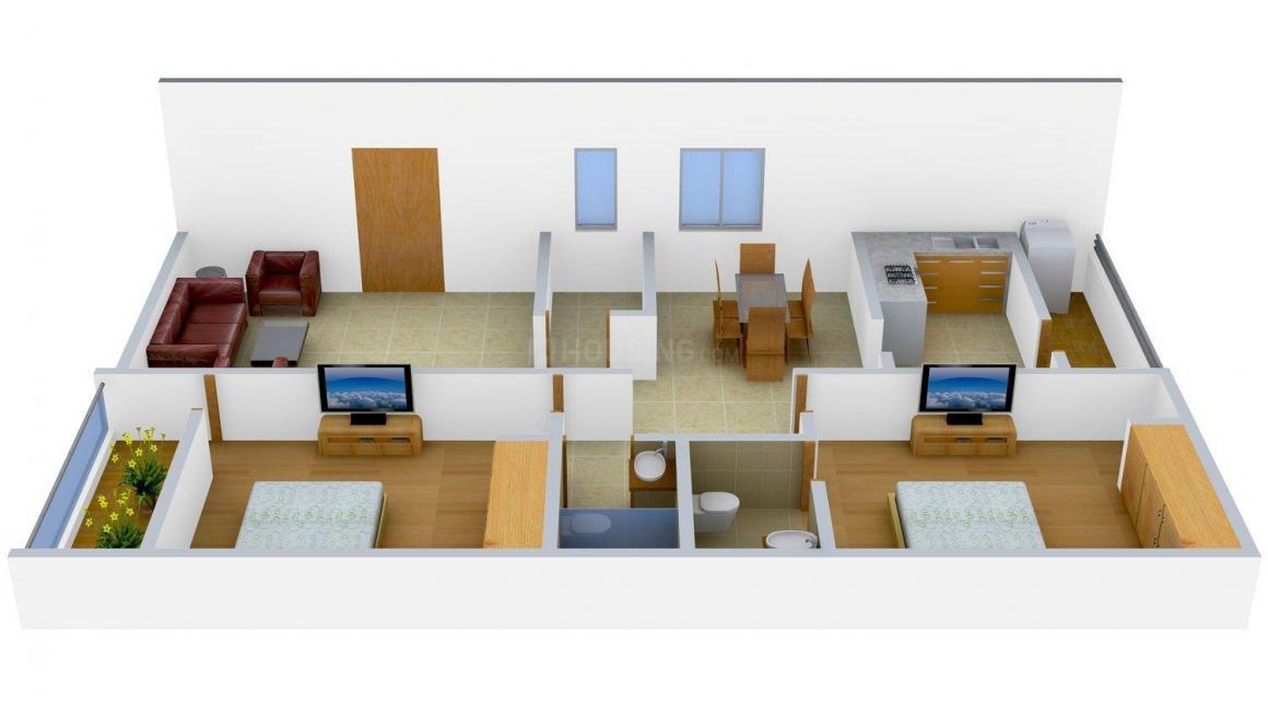 Chakri Sree Nilayam Floor Plan: 2 BHK Unit with Built up area of 1125 sq.ft 1