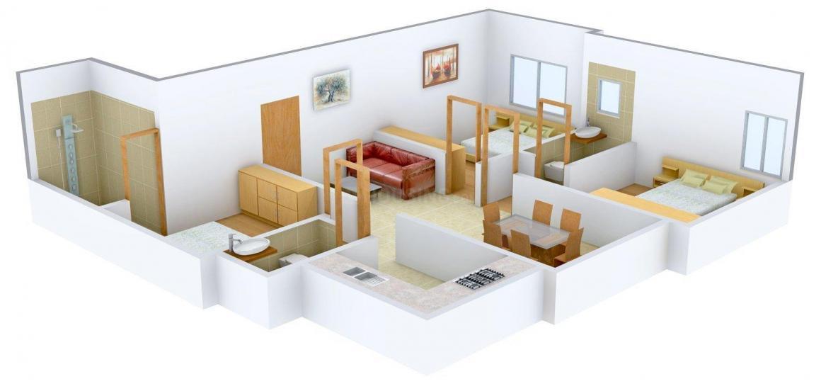 Floor Plan Image of 1335 - 1350 Sq.ft 3 BHK Apartment for buy in Shanti Pallavi Sadan