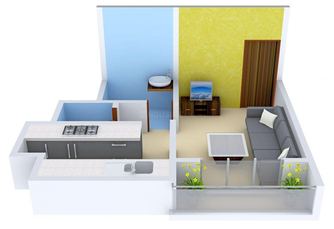 Floor Plan Image of 378 - 657 Sq.ft 1 RK Apartment for buy in Nirmal Nagari