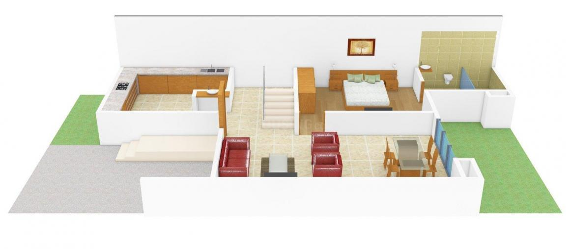 Arun Excello Excello Town House Floor Plan: 3 BHK Unit with Built up area of 1460 sq.ft 2