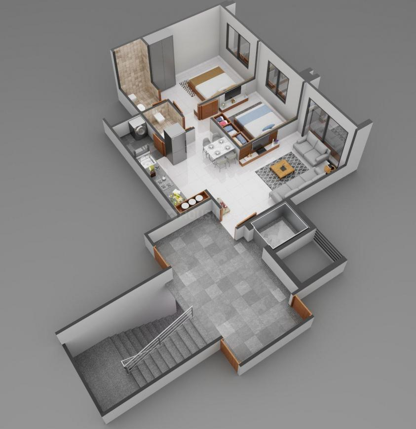 Pushkar Green Floor Plan: 2 BHK Unit with Built up area of 1215 sq.ft 1