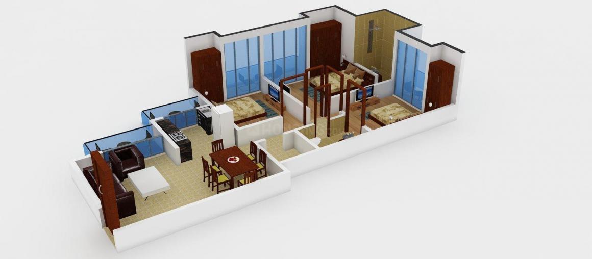Prateek Laurel Floor Plan: 3 BHK Unit with Built up area of 1385 sq.ft 1