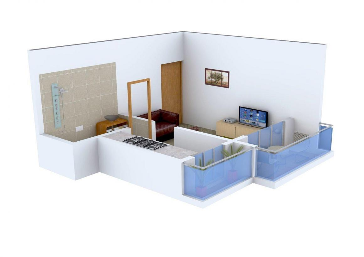 Floor Plan Image of 410.0 - 620.0 Sq.ft 1 RK Apartment for buy in Khushi Mountain View
