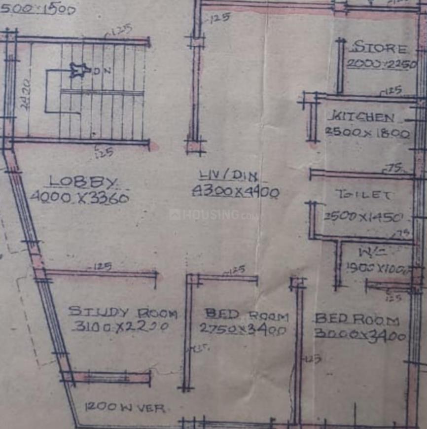 Shivam Abhilasha Apartment Floor Plan: 3 BHK Unit with Built up area of 1200 sq.ft 1