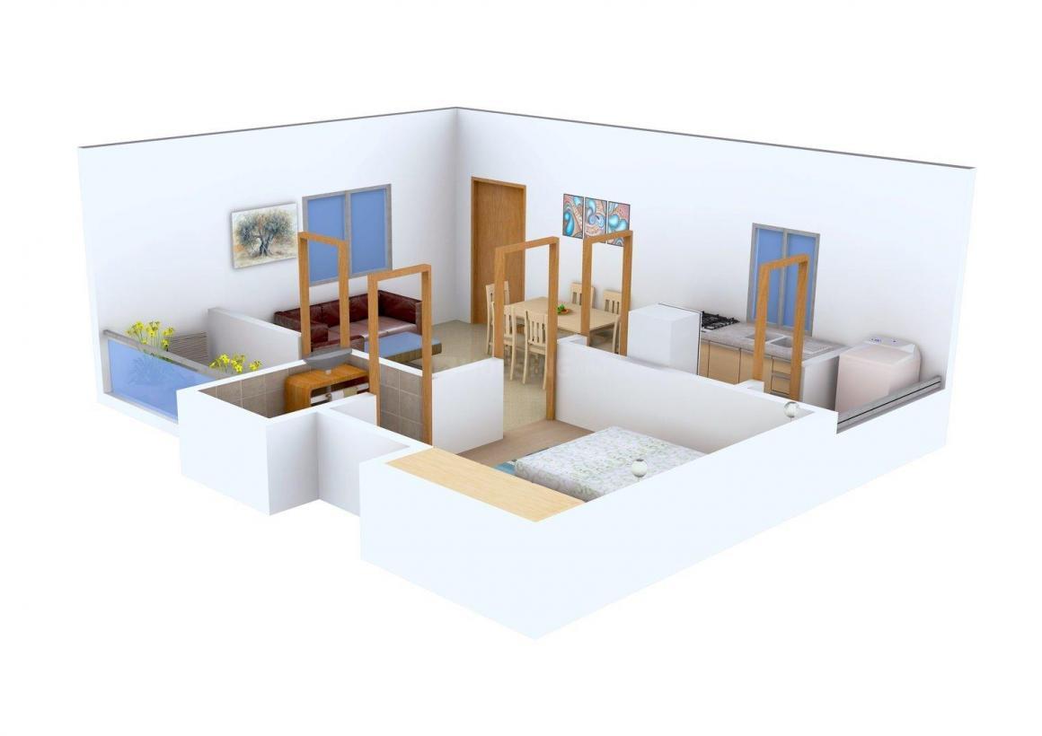 Srivaru Sujana Apartment Floor Plan: 1 BHK Unit with Built up area of 625 sq.ft 1