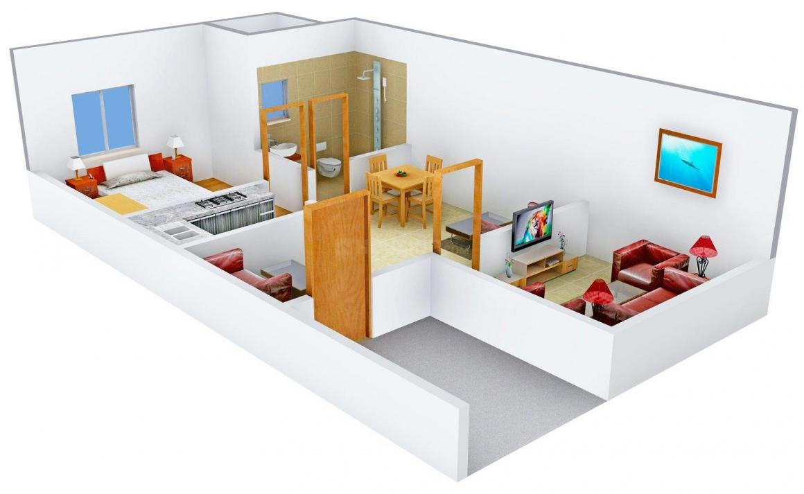 Floor Plan Image of 0 - 693.0 Sq.ft 1 BHK Independent Floor for buy in S.S Floor - 10