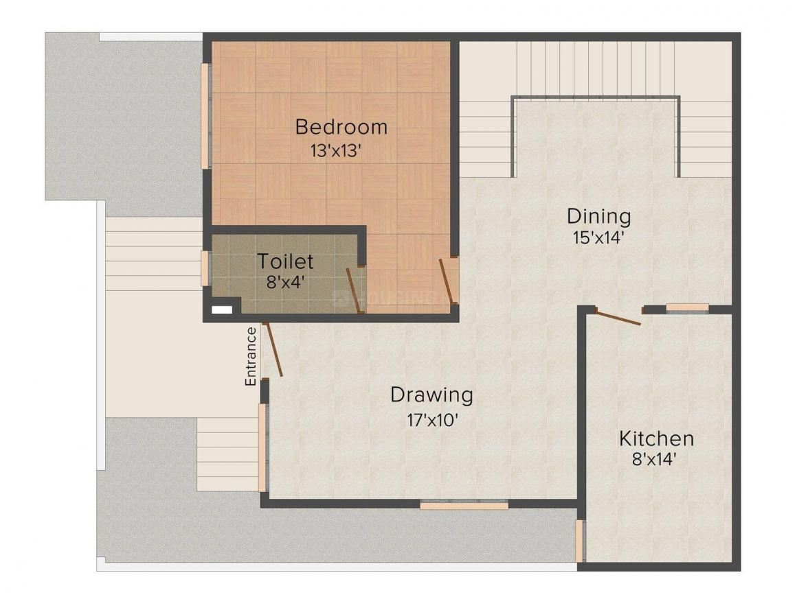 Floor Plan Image of 0 - 1080.0 Sq.ft 3 BHK Villa for buy in VV Villa