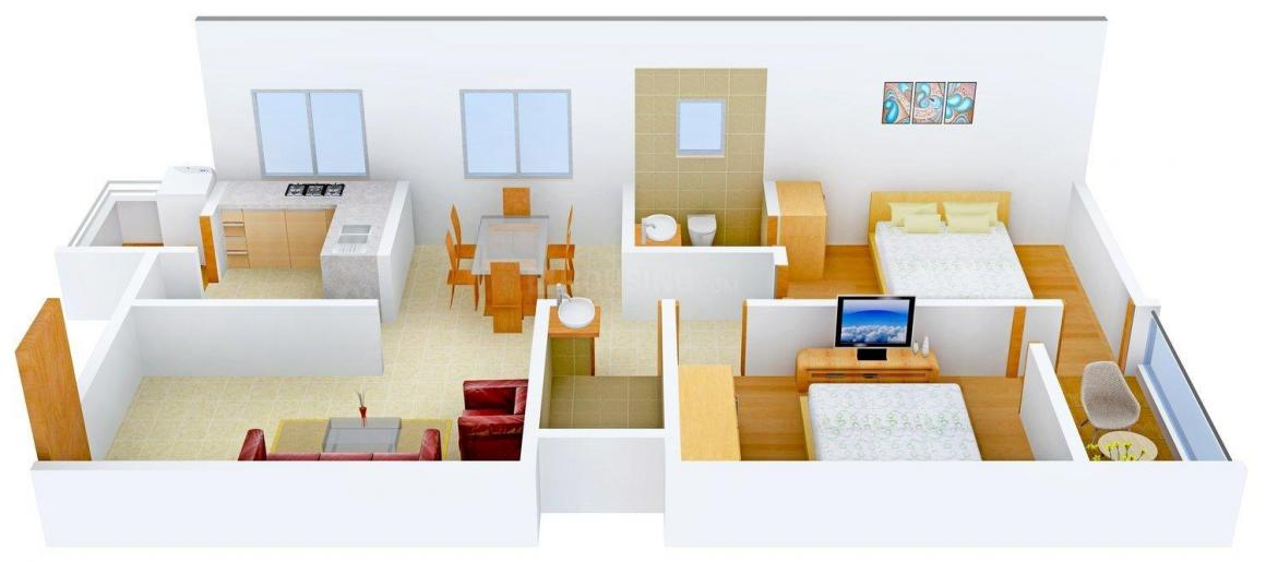 Floor Plan Image of 0 - 1090 Sq.ft 2 BHK Apartment for buy in Sukun Park View