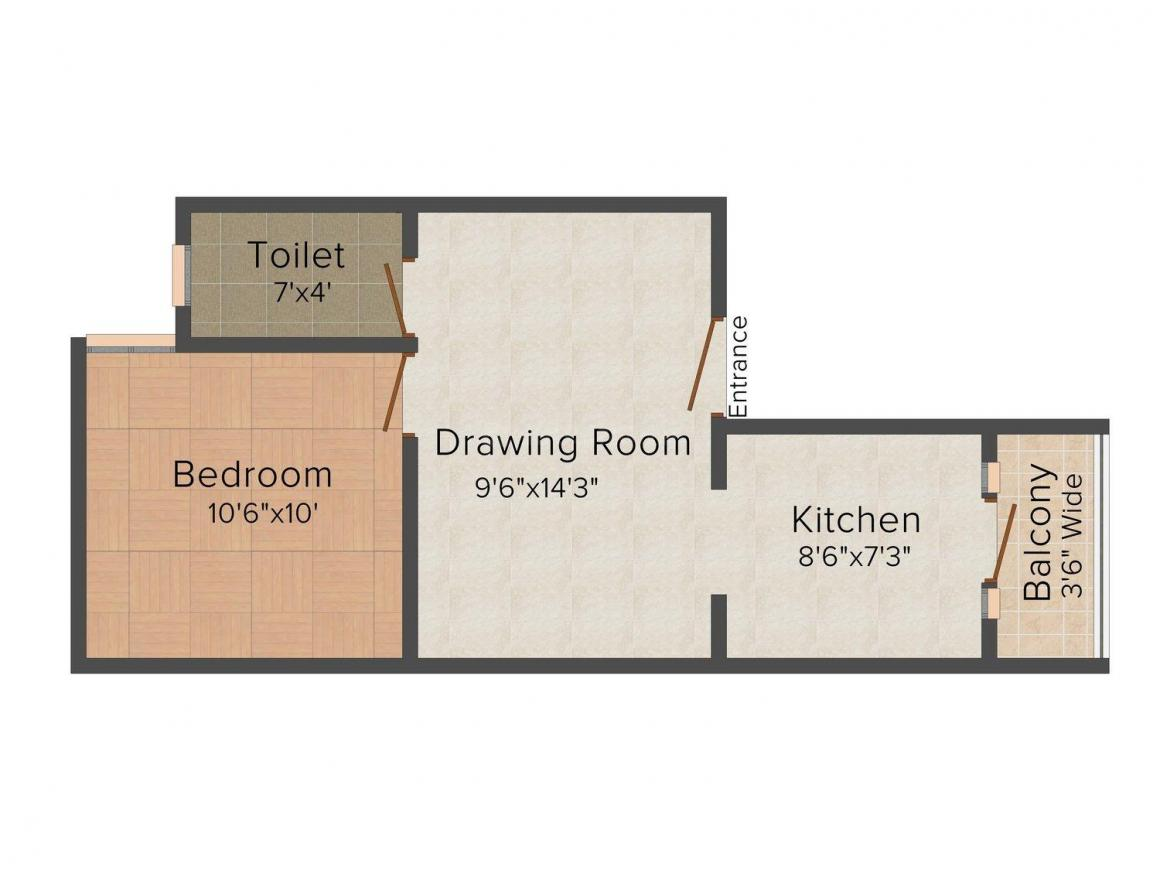 Floor Plan Image of 450 - 900 Sq.ft 1 BHK Independent Floor for buy in RBD Homes
