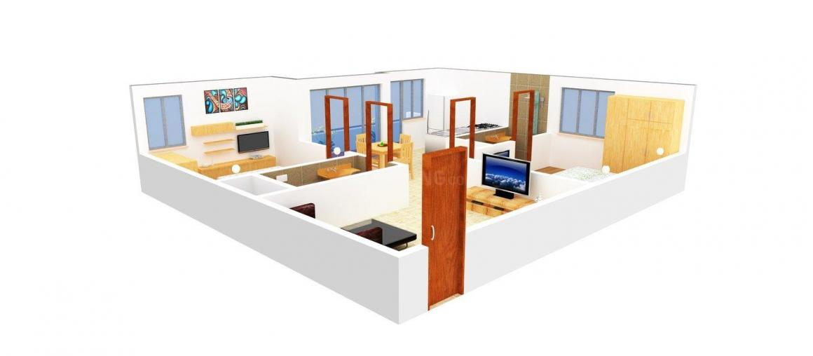 Floor Plan Image of 820 - 1370 Sq.ft 2 BHK Apartment for buy in Amith Sai Sathya Sai Paradise