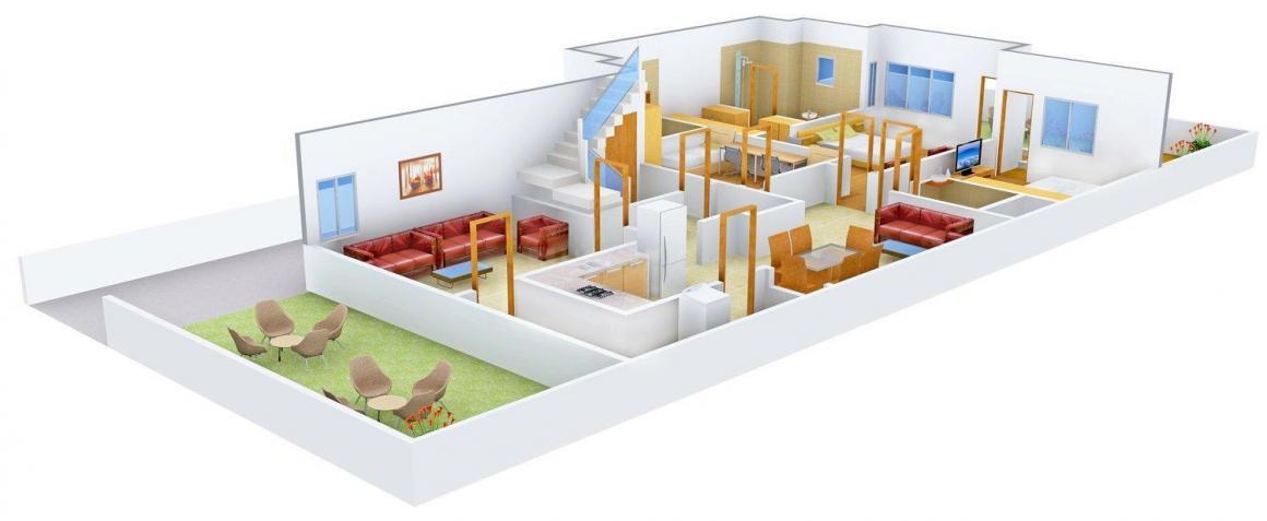 Ishaadi Floors 13 Floor Plan: 3 BHK Unit with Built up area of 2700 sq.ft 1