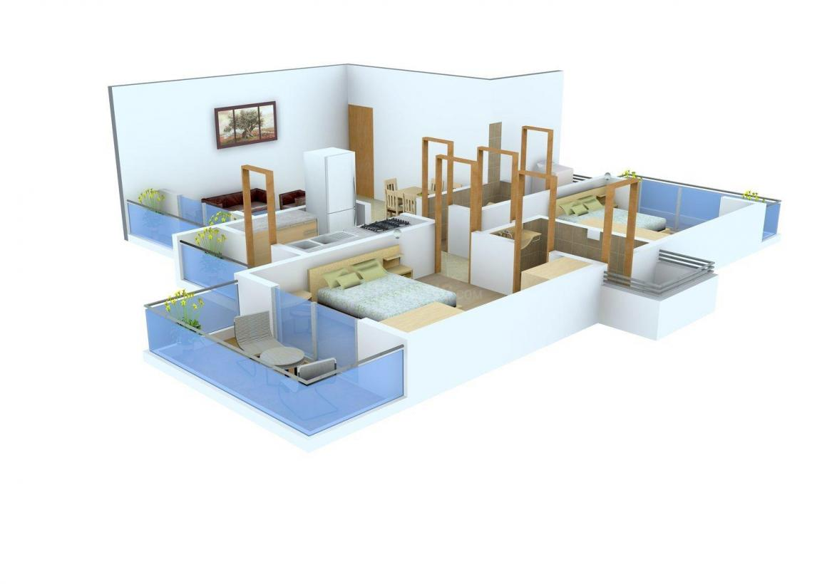Floor Plan Image of 0 - 1220.0 Sq.ft 2 BHK Apartment for buy in Trishul Apartments