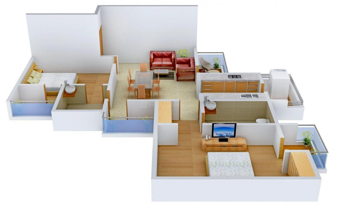 Floor Plan Image of 1000.0 - 2100.0 Sq.ft 2 BHK Apartment for buy in Visava The Urban Walk
