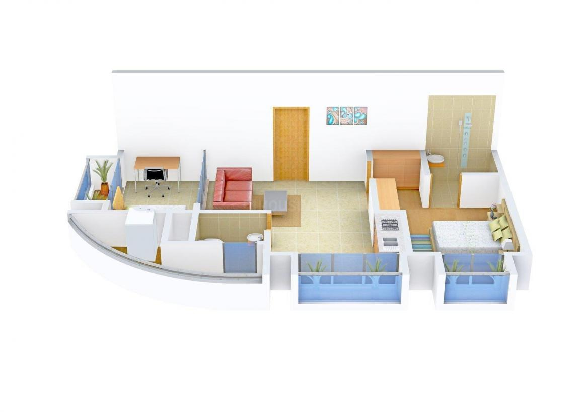 Floor Plan Image of 0 - 505 Sq.ft 1 BHK Apartment for buy in Sumit Abode II