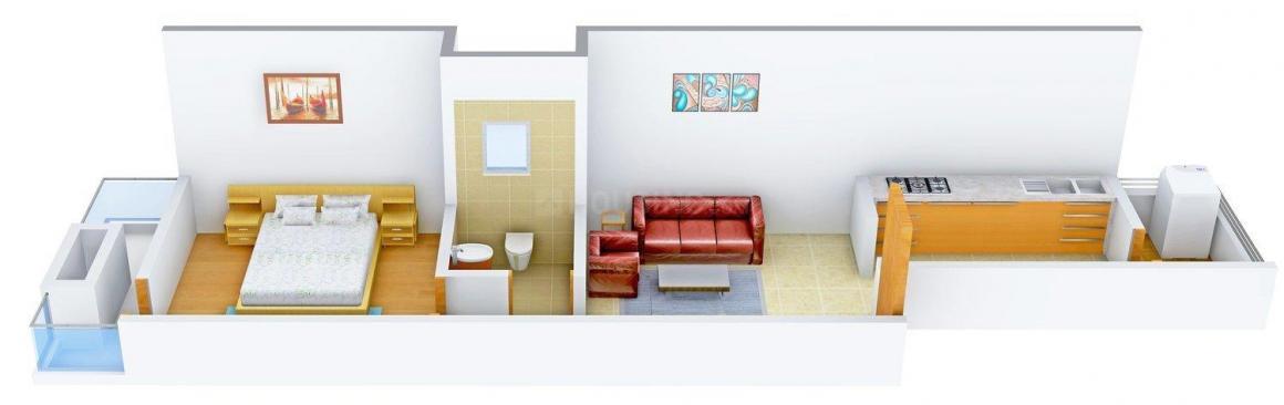 Floor Plan Image of 0 - 540 Sq.ft 1 BHK Independent Floor for buy in Gupta G Builder Site 60
