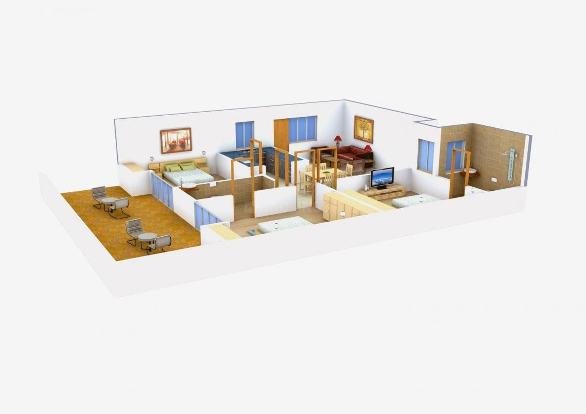 Floor Plan Image of 1500.0 - 1800.0 Sq.ft 3 BHK Independent Floor for buy in Jai Ambey Builder Floors - 3