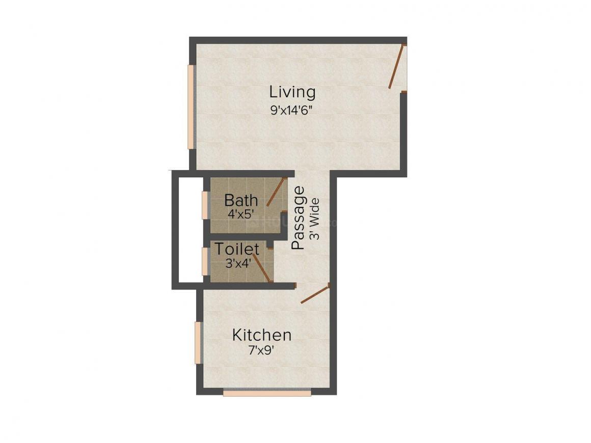 Floor Plan Image of 345 - 485 Sq.ft 1 RK Apartment for buy in Sankalp