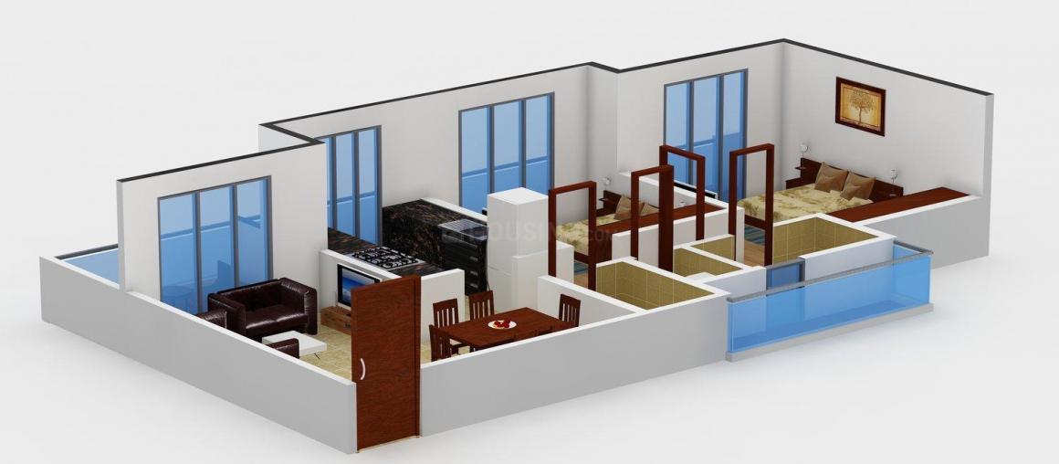 Floor Plan Image of 1100.0 - 1582.0 Sq.ft 2 BHK Apartment for buy in Triveni Laurel