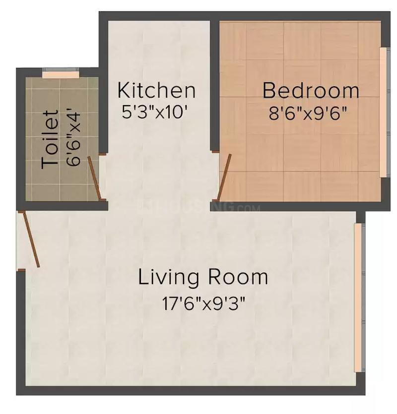 DGS Sheetal Dwar Floor Plan: 1 BHK Unit with Built up area of 721 sq.ft 1
