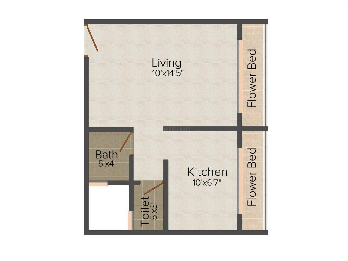 Bhoomi Sai Pritam Floor Plan: 1 BHK Unit with Built up area of 343 sq.ft 1