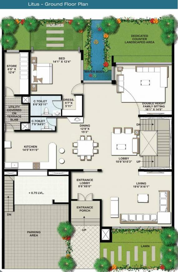 Floor Plan Image of 3488.37 - 3914.3 Sq.ft 4 BHK Villa for buy in Suyojit Viridian Vallis Phase 1 F And G Sector Virens